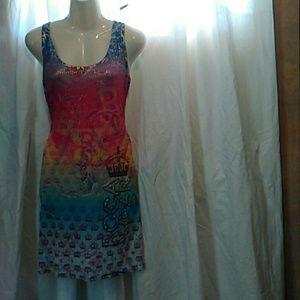 Rocawear lite tiedye design summer dress